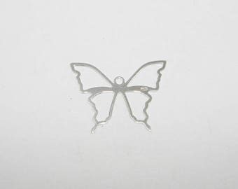 Butterfly silver 2.5 cm in length, Sterling Silver 925/1000 silver charm. Money first.