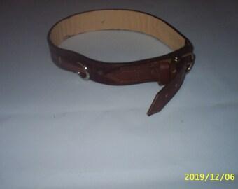 Leather dog collar