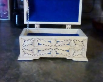 Vintage 1988 Prisoner Crafted Jewelry Box