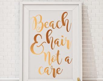 Beach hair & not a care