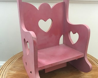 Vintage 1990's wooden rocking chair hearth and carillion-perfect for an american girl doll