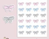 BOWS | Planner Stickers | Bow | Pastel | Pink | Hand Drawn | Erin Condren | S148