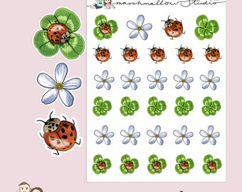 LADYBUG | Spring | LADYBIRD Planner Stickers | Hand Drawn | Insects | Erin Condren | S85