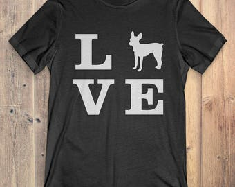 Toy Fox Terrier Dog T-Shirt Gift: I Love Toy Fox Terrier