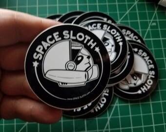 Space Sloth Logo Sticker, Cool Astronaut Animal, Space Sticker, Laptop stickers, Small Laptop Stickers, Sticker for laptop, Space