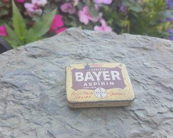 Vintage Bayer Aspirin Tin