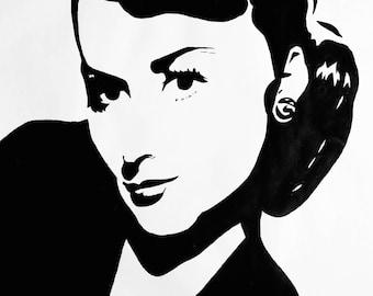 4x6 Olivia de Havilland Art Print