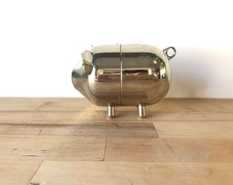 Vintage Silver Piggy Bank