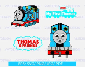 Thomas the train Svg, Thomas The Train Clipart - SVG Files for Silhouette Cameo or Cricut, files download svg, eps, jpg, png, pdf
