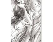Marque-pages - Les amants - Illustration Delphine GACHE