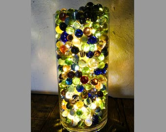 Design lamp multicolored beads