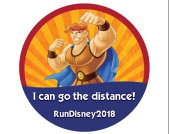 I Can Go the Distance Button - Hercules Button - Run Disney - Marathon Button - Disney Park Pin - Theme Park Button - Disney Park Button