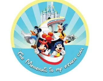 Disney Monorail Button - Theme Park Button - Disney Vacation Pin - Monorail Badge - Disney Vacation Gift - Monorail Lanyard Pin - Park Pin