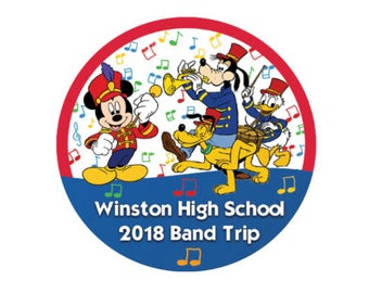 Personalized School Band Trip Button - Disney Band Trip Pin - Theme Park Button - Disney Park Pin - School Band Button - Disney School Trip