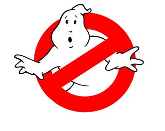 Ghostbusters Vinyl Decal, Ghostbusters Logo, Ghostbusters Sticker