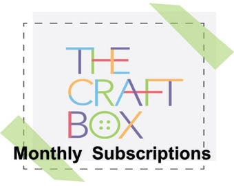 The Subscription Box for Kids Crafts - Kids Craft Kit - Arts and Crafts for Kids - DIY Gift - Craft Gifts - Craft Supplies