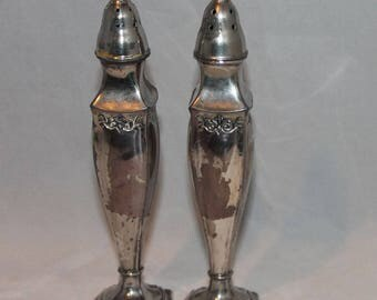 La France Reg Sp Co. Silver Plate Salt and pepper shakers 155 stamp Made in USA