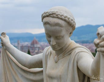 Fine Art Photography Print - Weeping Statue in Florence, Italy