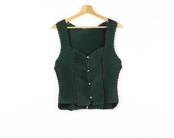 Medieval Suede Gilet - Second-hand Woman Waistcoat