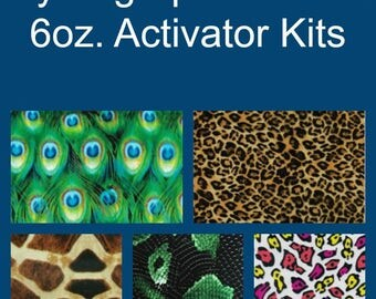 Hydrographic Dip kit with 6oz activator and 1 Linear Meter of Hydrographic Film Animal Print