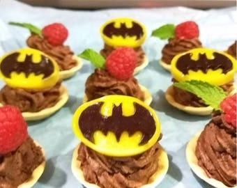 Batman Chocolate Mousse Tarts