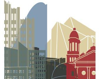 San Jose Cityscape Art Print