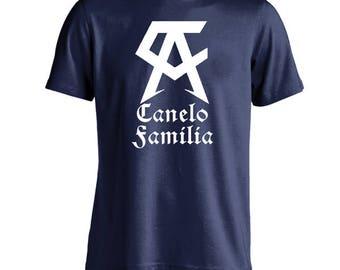 Canelo Familia (Saul Canelo Alvarez) T-SHIRT HBO Boxing Logo GGG Fight Party Vinyl Tee