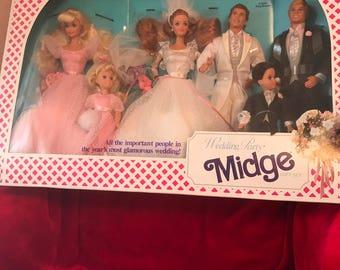 Wedding Party Midge Gift Set-Barbie Mattel