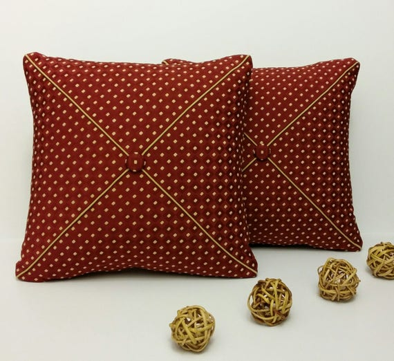 Set Of 2 Burgundy Throw Pillows For Couch Burgundy
