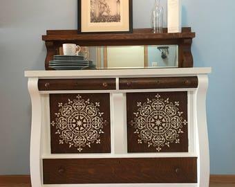 SOLD - Antique Tiger Oak Sideboard