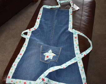 Repurposed Denim Apron