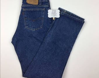 Vintage Levi's 517 Orange Tab Relaxed Jeans / 29x32 Made in USA
