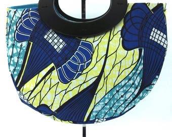 Blue African fabric handbag