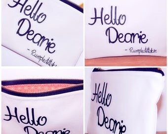 Hello Dearie - Rumplestiltskin Makeup Pouch / Makeup Bag / Gift / Cosmetic Bag / Disney / Once Upon A Time