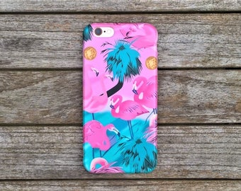 Transparent Soft TPU Gel Flamingo and Tropical Design Phone Case For Iphone 6/s and 7