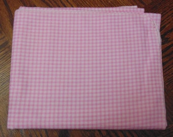 Pink checked baby blanket