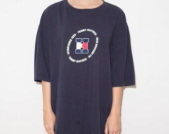 90s Clothing, Tommy Hilfiger, 90s, Tommy, Vintage Tommy, Hilfiger, 90s Tommy Hilfiger, Streetwear, 90s Clothes, Navy, Hilfiger, Summer