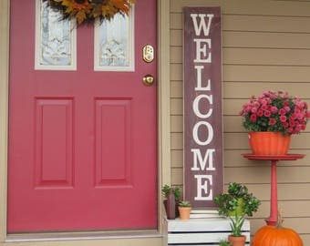 Welcome Sign. Welcome Sign Front Porch. Welcome Sign Front Door. Rustic Wood Welcome Sign. Farmhouse Style Sign. Fall Porch Sign. Home Sign.