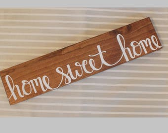 Home sweet home sign | Home sweet home | Family name | Wedding signs | Wedding gifts | Home decor | Wood signs | Wooden signs | Rustic decor