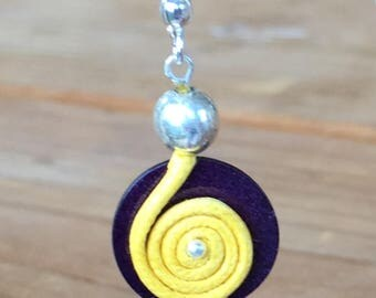 """Spin atomize"" earrings"