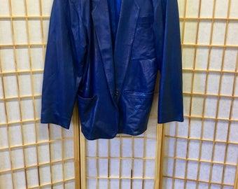 Claude Montana Pour Ideal Cuir Paris France 1980's Lambskin Leather Jacket