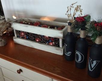 Centerpiece, Farmhouse, Holiday Table Centerpiece, Rustic, Shabby Chic, Primitive, Kitchen Decor