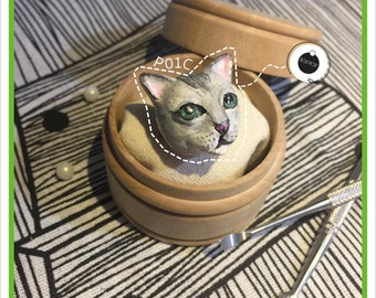 RolyPoly HongKong Handmade Cat Pin-for gift-jewelry-