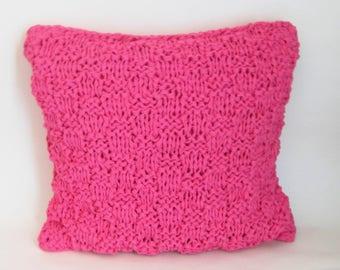 Indian pink cushion 40/40