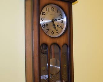 Vintage Commodore 35 Day Pendulum Wall Clock with Chime | Collectables, Clock Collector, Home Decor, Home Accents, Wall Clocks, Wall Clocks