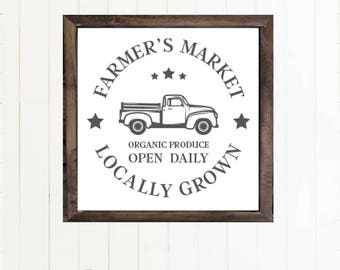 Farmer's Market Sign - Instant Download - PRINTABLE