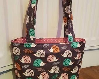 Hedgehog Fabric Tote Bag