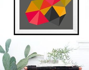 Lamina rombos abstractos , Lamina decorativa, Cuadros modernos, laminas geometrica, Impresión digital. Digital Print. Wall Print Art.