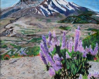 """Fine Art Print, Mt. St. Helen's, """"Life After Death"""""""