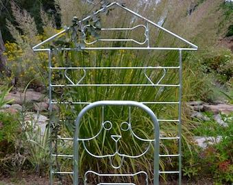 Garden Trellis. Doghouse Design With Dog U0026 2 Bones. Gift For Gardener. FREE